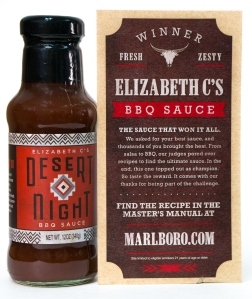 Above: A recent mailing from Malboro included a bottle of BBQ sauce. In late 2014, Malboro promoted a contest on its website calling for BBQ sauce recipes. The winning recipe was bottled, packaged and sent to consumers on the Malboro mailing list.