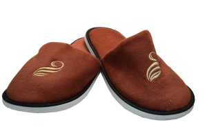 """The cigar brand Black & Mild sent these slippers as a holiday gift to those on the Black & Mild mailing list.  The packaging read, """"Time to slip into something smooth.  Happy Holidays and thanks for choosing Black & Mild."""""""