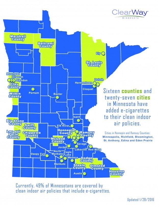 Half of Minnesotans enjoy clean air