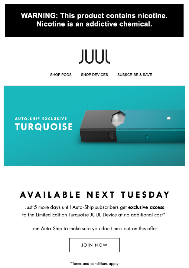 JUUL autoship